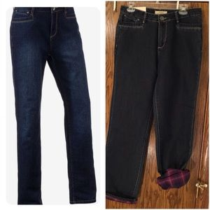 NWT Natural Reflections Lined  Straight Leg Jeans